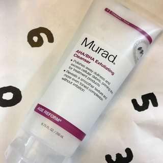 Murad AHA/BHA Exfoliating Cleanser 💯Real