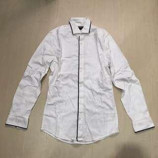 H&M white slim fit shirt