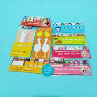 post it notes bookmark stationary