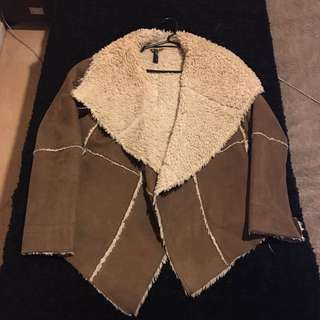 FAUX SHEEPSKIN JACKET