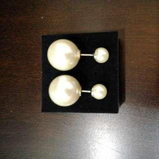 珍珠耳環((耳針式))