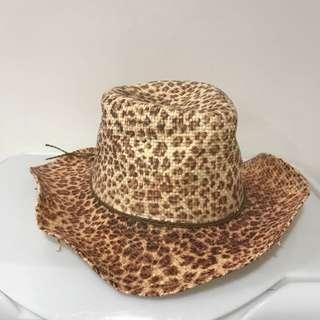 Leopard Print Cowboy Straw Hat 🎩