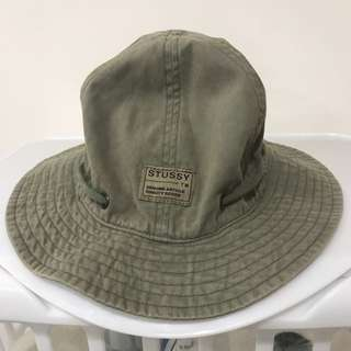 STUSSY khaki Bucket Draw String Hat
