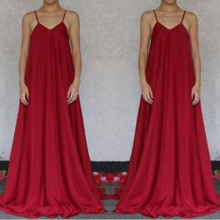 Red Sideboob Dress / Gown