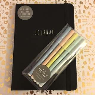 Kikki K Leather Journal And Slim Pen Set Bundle