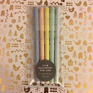 Kikki K Slim Ballpoint Pen Set Brand New Inspirational