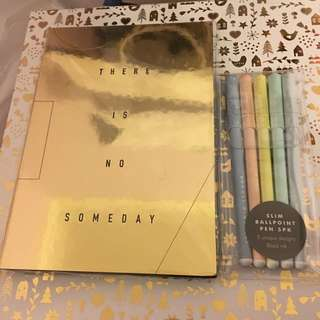 Kikki K Notebook And Pen Set Bundle