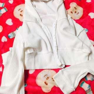 Jacket White W/hood