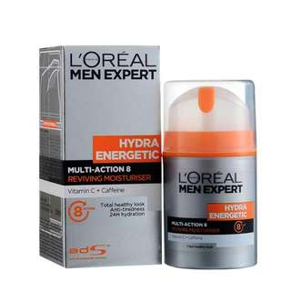 🆕 Loreal Men Expert Hydra Energetic Multi Action 8 Moisturiser 50ml