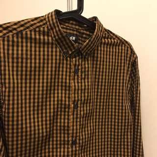 H&M 格子襯衫M