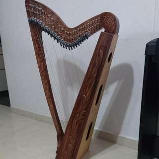 27 String Lever Harp