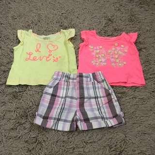Checked Short & Levis Tshirt