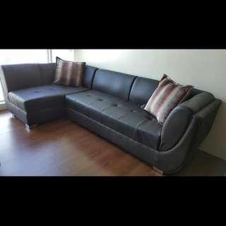 Leather L-Shaped Sofa