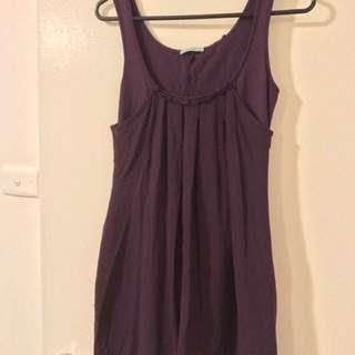 Kookai Chiffon Purple Dress Size 1