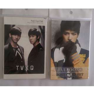 TVXQ & Jaejoong Postcards