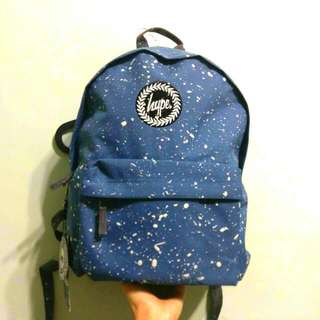Hype Speckle Backpack Blue