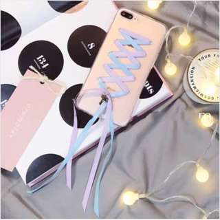 Iphone 7 Plus TPU Phone Case with Ribbon