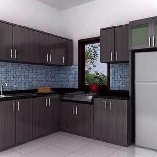 Kitchen set dapur minimalis coklat tua