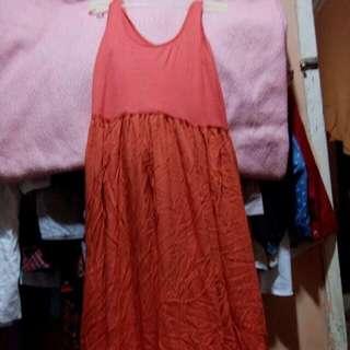 Long Dress Orange