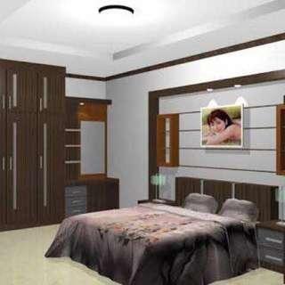Kamar tidur set tempat tidur lemari pakaian meja rias