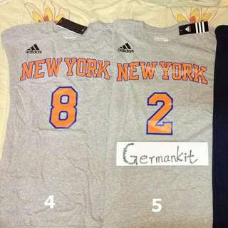 Adidas Tee New York Knicks from official online store in USA, Larry Johnson , Allan Houston size M $150 for each