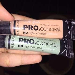 (dapat 2!) LA Girl Pro Concealer Green Corrector & Natural