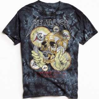 ✨Preloved Urban Outfitters Authentic Metallica Pushead Tie Dyed Band Tee