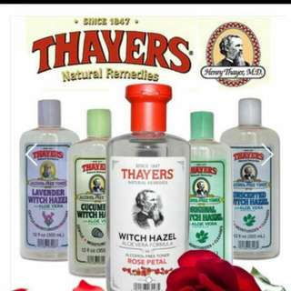 **June Arrival! 100% Authentic from US!** THAYERS Witch Hazel Facial Toner w Aloe Vera Formula. - Rose/Original/Unscented/Cucumber/Lavender ALCOHOL+Chemical-FREE Toner 12 fl oz (355 ml) [Certified Organic / Batch Expiry: Jan 2020]