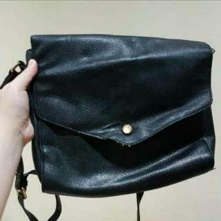 Forever 21 Mail Boy Sling Bag Black