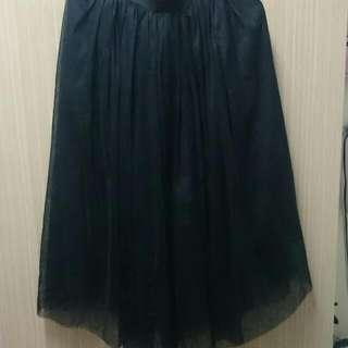 黑色網紗裙