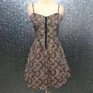 Lace Printed Bustier