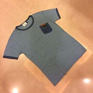 韓 口袋短袖上衣 短t Korea Uniqlo Muji Gu
