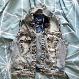 Size Small Silver Jean Jacket