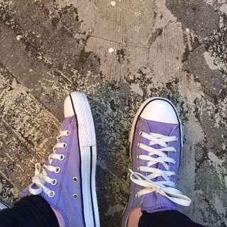 Converse 二手古著 紫色 正品 Allstar 實拍