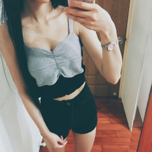 性感針織短版背心