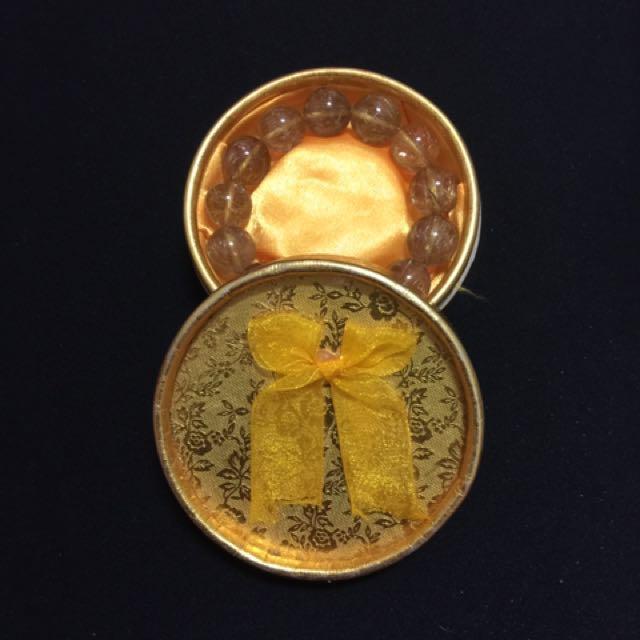 天然金髮太晶珠手環