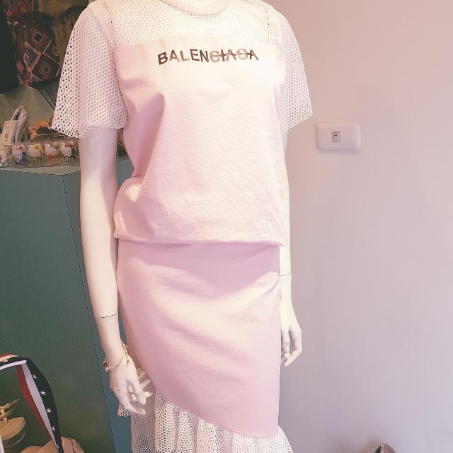 全新#韓國空運#粉紅#縷空#蕾絲#套裝