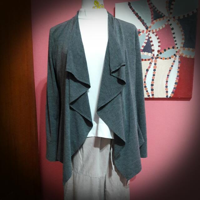 (二手)鐵灰色棉質小外套