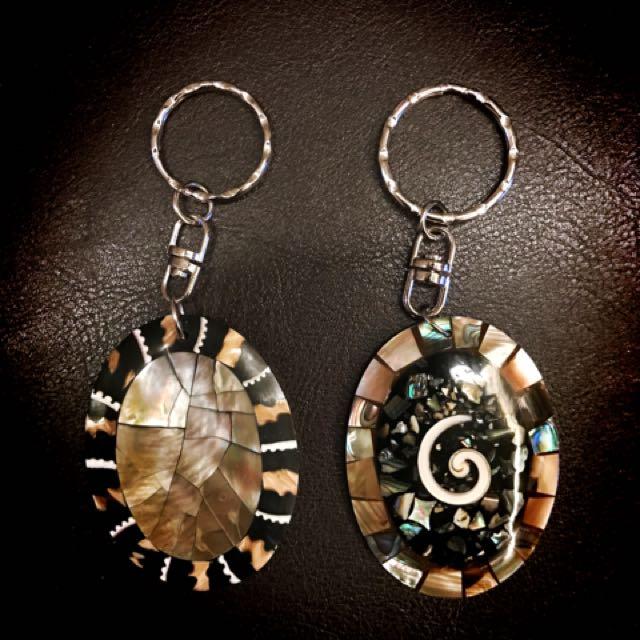 貝殼幻彩手工鑰匙圈❤️