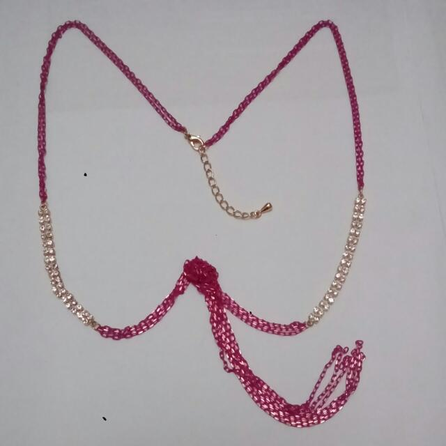 #十一月免購物直接送#小桃紅長項鍊