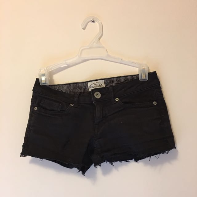 Aeropostale Ripped Black Shorts