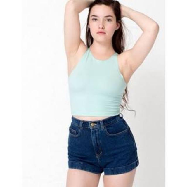 American Apparel Mint Crop BNWT S