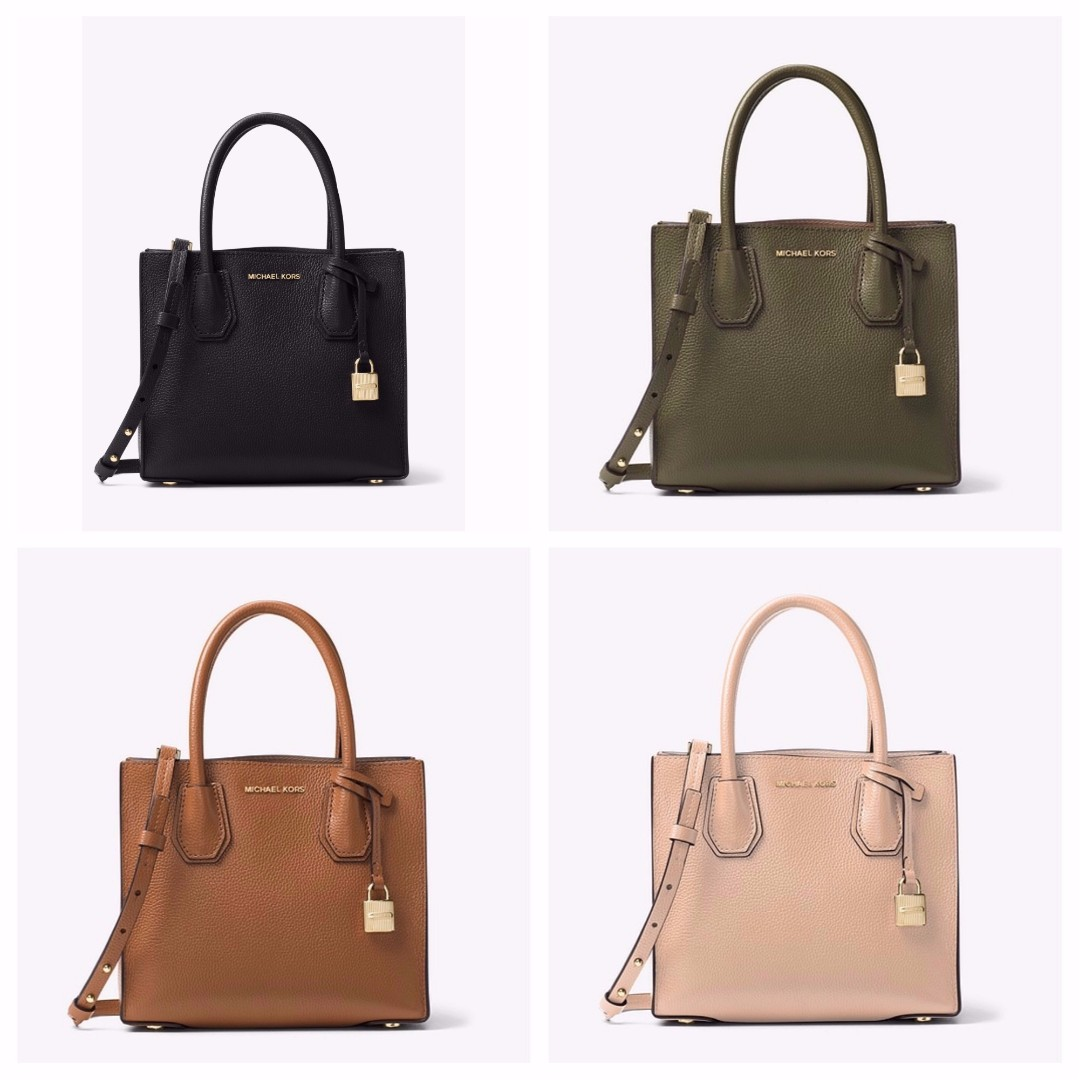 83ee656ad79be Authentic MK Michael Kors Mercer Large Leather Tote Sling Crossbody ...