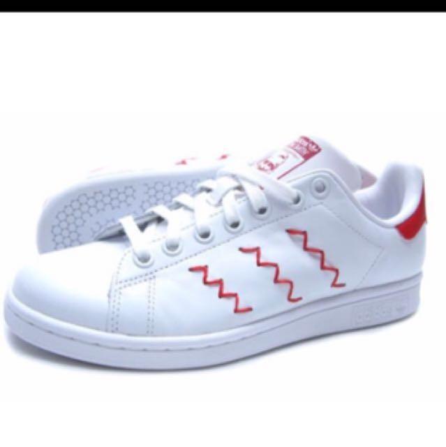 adidas stan smith zigzag rood