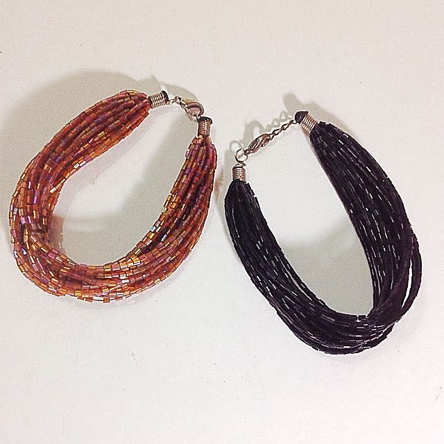 Beaded Bracelet Duo