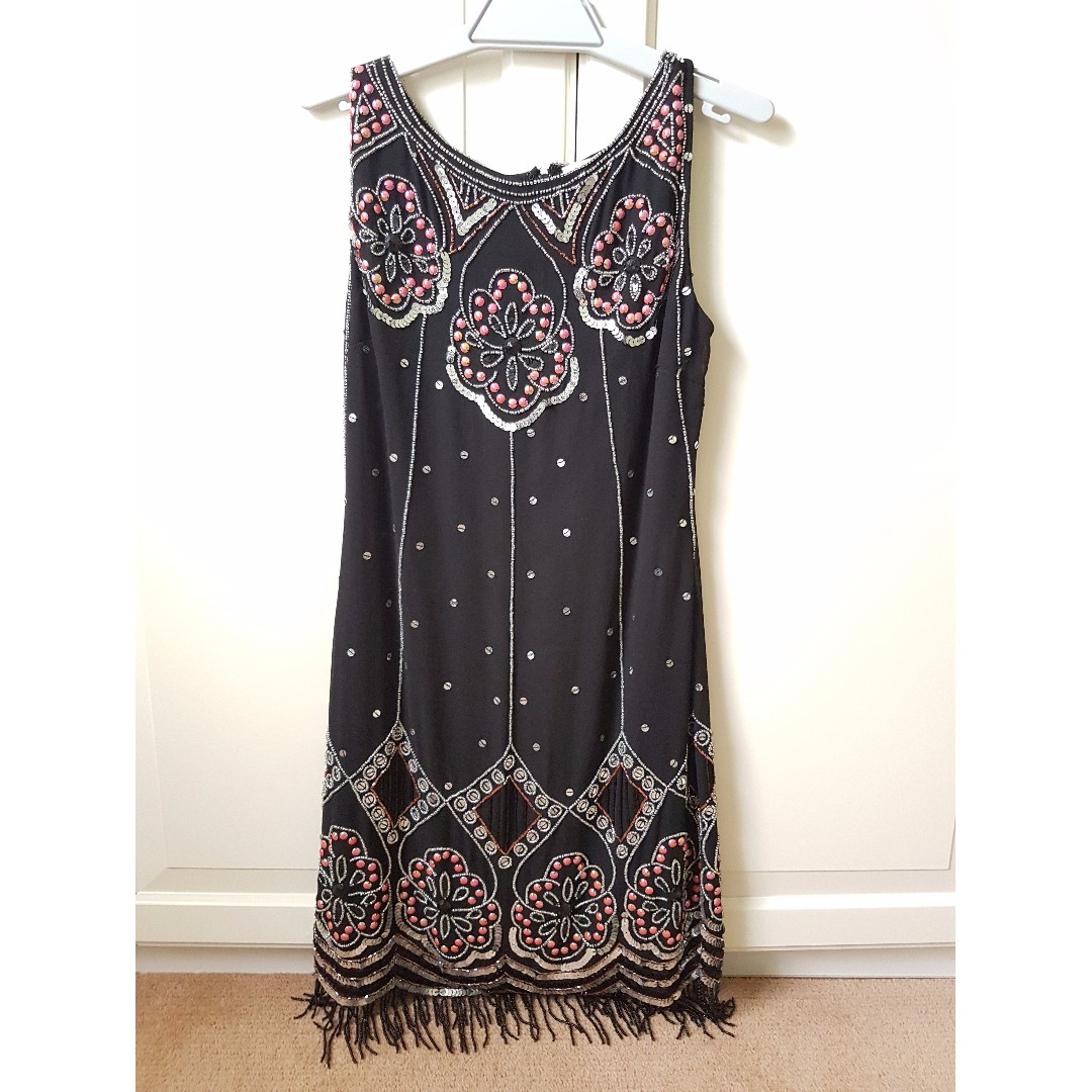 Beaded Cocktail Shift Dress