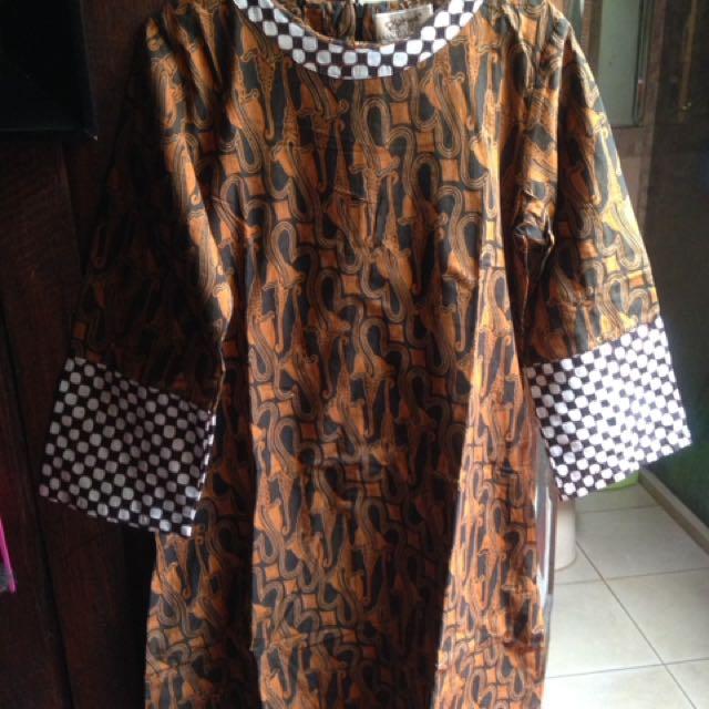 #bersihkanlemari Batik Midi Semi Formal Dress