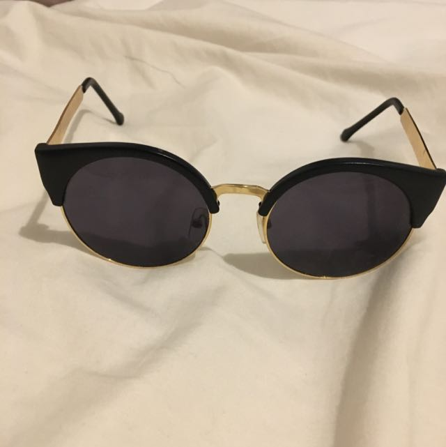 Black And Gold Cat Eye Glasses