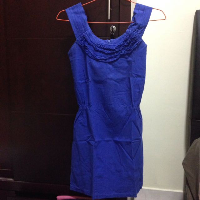 Blue Dress Body Fit Size S-M