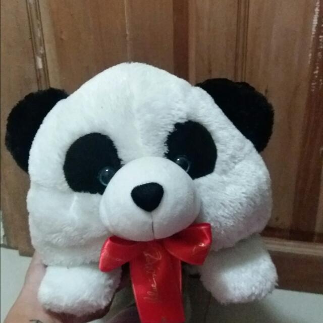 Blue Magic Panda Pillow Bear